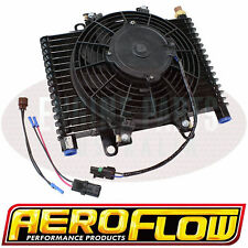 """AEROFLOW COMPETITION OIL COOLER 13.5""""x9""""x3.5"""" AF72-6000 WITH FAN & SWITCH"""