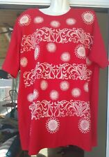 Vintage Womens Apparel Limited Art Wear Painted Short Sleeve Top Graphic Euc