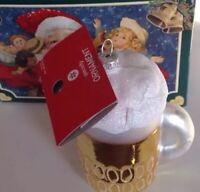NIB GLASS CHRISTMAS ORNAMENT Mug Of Beer By Merck Old World Christmas, Box