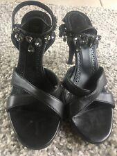 boss shoes color  black with diamonds size 6.5