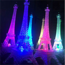 HOT Romantic Eiffel Tower Table LED Night Light Desk Wedding Bedroom Decor Lamp
