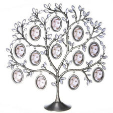 Metal Family Tree Picture 12 Frame Holder Hang Photo Home Table Desk Display PHT