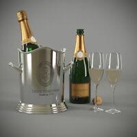 Louis Roederer Champagne Bucket~ Ice Bucket ~ Bar ~ Nickel Finish