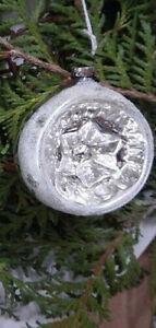Christbaum Weihnachtskugel Silber Reflexkugeln Alt Retro Vintage 40 50 er Jahre
