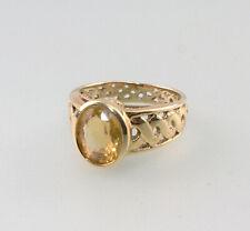 8625069 333er GG Ring Gold Citrin Gr.56