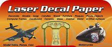 5 Blatt Decal Folie für Laser / ALPS Drucker zum dekorieren von Kerzen