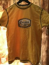 Vintage Corona Week Beer Promo Yellow TSHIRT Small Corona Extra