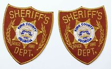 The Walking Dead - 2 X King County Sheriff Dept. Prop Replica Shoulder Patches