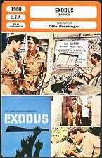 EXODUS - Newman,Marie Saint,Preminger (Fiche Cinéma) 1960