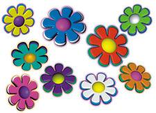 Blumen Aufkleber Hippie Blumen Auto Aufkleber: Mini 06 - 51 Stk. - bunt gemischt