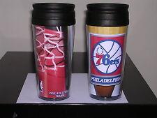 PHILADELPHIA 76ERS 16 OZ  2 TRAVEL MUGS  NBA SIXERS