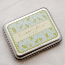 Rubber Stamps DIY tin box set-OISEAUX de montagne
