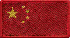 Chinese Flag China Woven Badge, Patch 8cm x 4.5cm