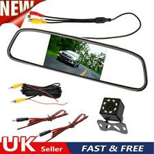 4.3 Inch Car Mirror Monitor Auto Parking System 8LED Rear View Camera Waterproof