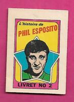 1971-72 BRUINS PHIL ESPOSITO  FRENCH BOOKLET INSERT (INV# A9593)