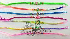 LOT of 100 Macrame Fimo friendship bracelets peruvian thread Handmade