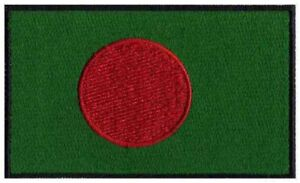 2 pcs BANGLADESH Flag Embroidered Iron on Patches - BANGLADESH