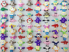 20pcs New Wholesale Lots Jewelry Mixed Children Polymer Clay Rings Free Shipping