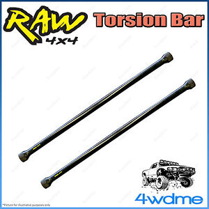 "Ford Courier PC PD PE 4WD RAW Front Torsion Bars Increased Rate 2"" 0-40mm Lift"
