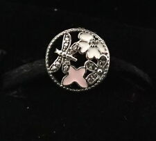 Authentic PANDORA Sterling Mixed Enamels & Clear Springtime Charm 791842ENMX