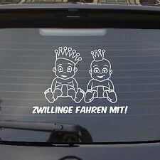 Auto Aufkleber ZWILLINGE FAHREN MIT! an Bord on Tour Car PKW LUSTIG Sticker 1124