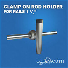 """HEAVY DUTY CLAMP ON FISHING  ROD HOLDER  FOR RAILS 1 1/4"""""""