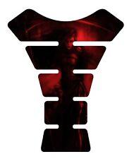Tanque De Motocicleta 3D Gel Pad Protector   ella Reaper Rojo