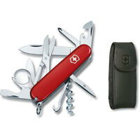 Victorinox Explorer Swiss Army Knife, Red with Pouch 53823