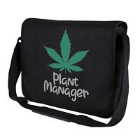 PLANT MANAGER Hanf Hemp THC Cannabis Marihuana Spaß Umhängetasche Messenger Bag