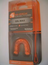 Shock Doctor Adult 11+ Mouth Guard #1 Gel Max Orange Boil & Bite Latex-Free Usa