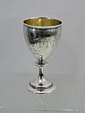 AMERICAN COIN SILVER GOBLET CHALICE CUP Gorham 1866 LARGE & SUPER HEAVY sterling