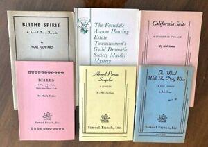 6  Successful Play Books (Scripts) ABSURD PERSON SINGULAR, BLITHE SPIRIT, Etc.