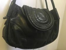 Mimco Under The Radar Day Bag; Black with patent edges and handle