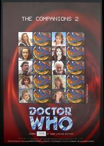GB SMILERS Sheet Dr Who The Companions 2 Limited Edition 561/1000 BC026 DF819