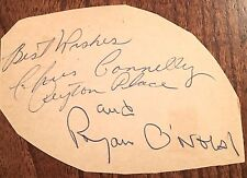 RYAN O'NEIL & CHRIS CONNELLY FILM STARS & OF USA TV SHOW PEYTON PLACE AUTOGRAPHS