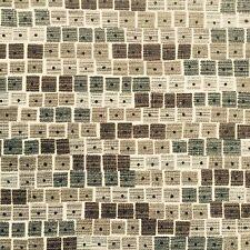 VINTAGE Sanderson Tessuto anni'50 anni'60 Retrò Geometrico foto fai da te
