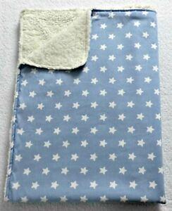 Babydecke ♥ Zweilagige Decke ♥ Kinderwagendecke ♥ Sterne ♥ handmade