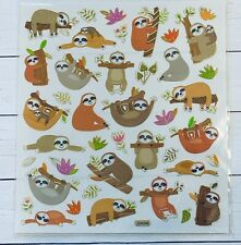 Silly Sloth Scrapbook Gold Foil Stickers Papercraft Planner Supply Party Seal