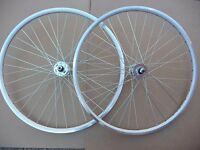 Pair of 700c TRACK Wheels Wheelset Fixie Flip Flop Single speed Freewheel Fixed