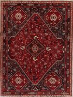 One-of-a-Kind Vintage Geometric Tribal Abadeh Oriental Area Rug Hand-Knotted 7x9