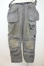 Snickers Men's Workwear 3214 Canvas Trousers Holster Pockets Cordura Pants sz 46