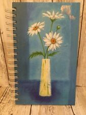 """C.R. Gibson Blue Spiral Journal Book Daisy Vase Blue Tine Lined, Julia H. 8.5"""""""