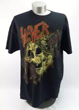 Slayer Cross Through Skull 2015 Tour Men's Black T-Shirt Official Band Merch 2XL