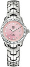 STUNNING TAG HEUER WOMENS LINK WJF131E.BA0572 DIAMOND PINK MOTHER OF PEARL WATCH