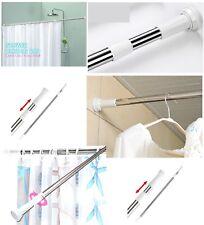 Extendable Telescopic Shower Curtain Rail Rod Pole Bath Wardrobe 16mm Diameter