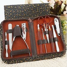 10Pcs Stainless Steel Nail Care Manicure Pedicure Tool Set Travel & Grooming Kit