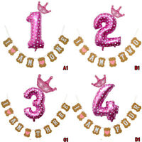 Baby Shower Birthday Bunting Garland Letter Number Party Hanging Banner Decor