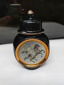 Elegant The Art of CHOKIN Japanese Oriental Engraving Vase Urn 24K Gold Edged