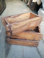 Vintage Brick Mould, Wooden Storage Box, wooden display box