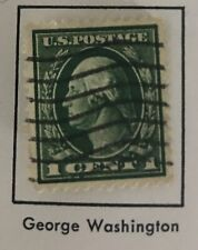 Rare George Washington 1 Cent Postal Stamps. #405. 2-12-1912